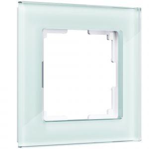 Рамка на 1 пост Werkel WL01-Frame-01 (натуральное стекло)