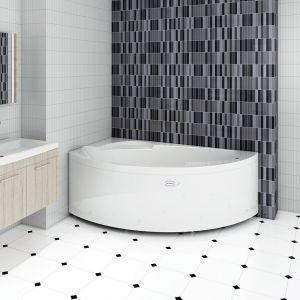 Акриловая ванна Vannesa Варна (прогресс) 1650х1050х630, левая, с экраном, без г/м