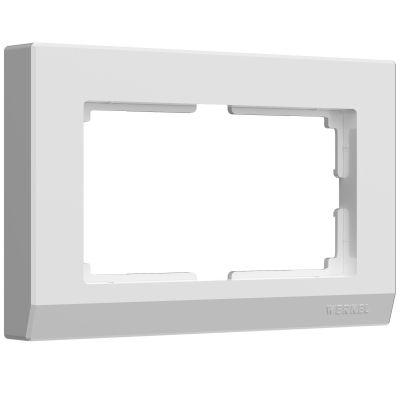 Рамка для двойной розетки Werkel WL03-Frame-01-DBL- white (белый)