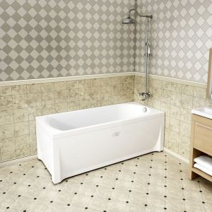 Акриловая ванна Vannesa Николь 1800х800х650, с экраном, без г/м