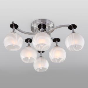 Люстра потолочная Eurosvet 9643/6 алюминий/белый
