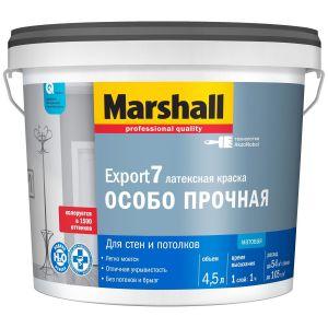 Краска Marshall Export 7 матовая латексная для стен и потолков BC 4,5л