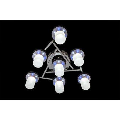 Люстра потолочная Eurosvet 90011/7 хром/бело-синий с пультом ДУ