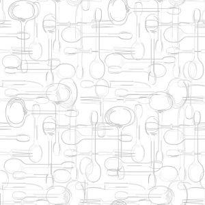 Обои Wallberry Ланч 2840 виниловые на бумаге 0,53х10,05м белый