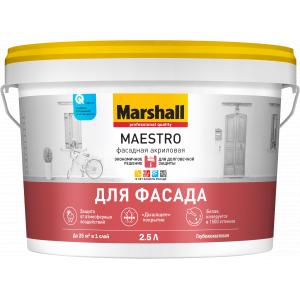 Краска Marshall Maestro Фасадная акриловая глубокоматовая BW 2,5л