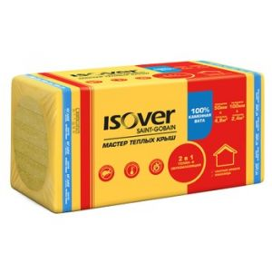 Теплоизоляция Isover Мастер теплых крыш 34-38кг/м3(1000х600х50мм)4,80м2/0,240м3/8шт
