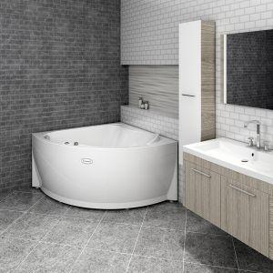 Акриловая ванна Vannesa Альтея 1250х1250х650, с экраном, без г/м