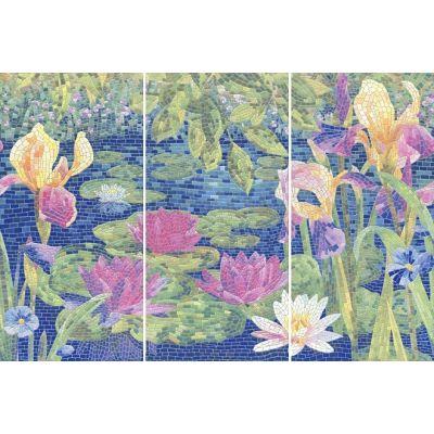 Плитка HGD/A94/3х/11000RL Сад Моне панно лаппат. 90x60 из 3-х частей