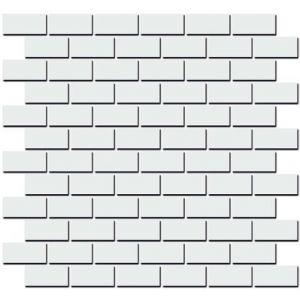 Плитка 191/001 Турнон белый матовый мозаичный декор   32x30