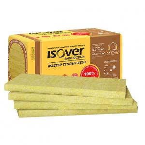 Теплоизоляция Isover Мастер Теплые стены плотность 44-48 (1000х600х50) 4,8м2/0,24м3/8шт