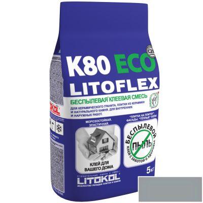 Клей плиточный Litokol  LitoFlex K80 ECO Беспылевая 5кг