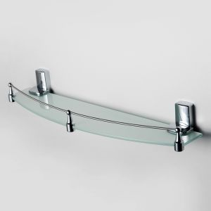 Полка стеклянная К-5044 (К-5024) блистер хром Leine Wasser Kraft