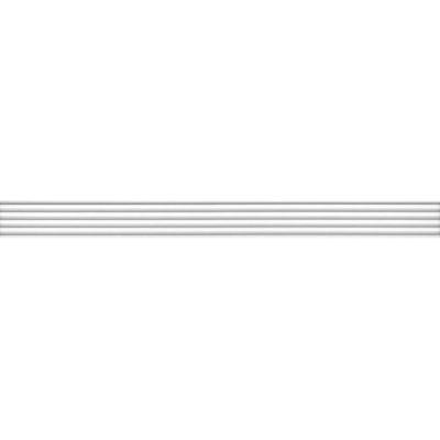 Плитка LSA013R Монфорте бордюр белый структура обрезной  40x3,4