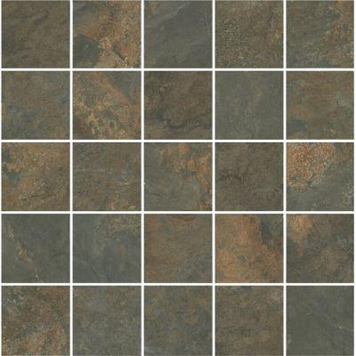 Плитка MM12132  Рамбла коричневый мозаичный декор 25x25