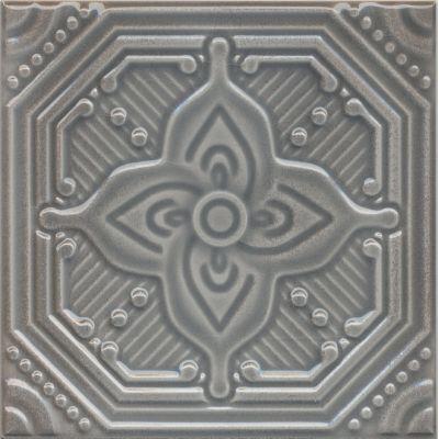 Плитка SSA001 Салинас серый декор  15x15