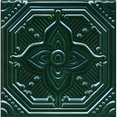 Плитка SSA003 Салинас зеленый декор  15x15