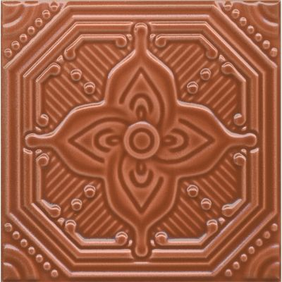 Плитка SSA005 Салинас оранжевый декор  15x15