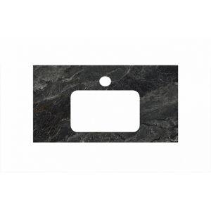 Столешница Kerama Marazzi Plaza PL2.VT93/100 Риальто тем.серый лаппат., для раковин встраив. сверху