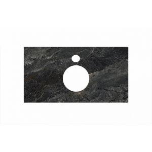 Столешница Kerama Marazzi Plaza PL1.VT93/120 Риальто темый серый лаппатированный,д/накладных раковин
