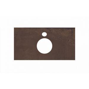 Столешница Kerama Marazzi Plaza PL1.DD571300R/80 Про Феррум коричневый, д/накладных раковин(80х48см)