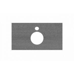 Столешница Kerama Marazzi Plaza PL1.DD500600R/80 Про Дабл антрацит, для накладных раковин (48х80см)