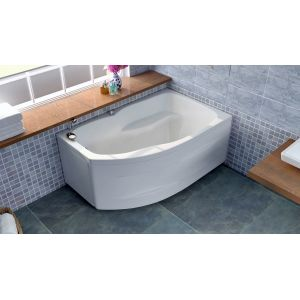 Акриловая ванна BellSan Сати 1500х960x630, левая, с экраном, без г/м