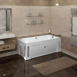Акриловая ванна Radomir ЛАРЕДО-Стандарт-Crome 1680х780х650, с экраном, г/м лечебный, контролер 100