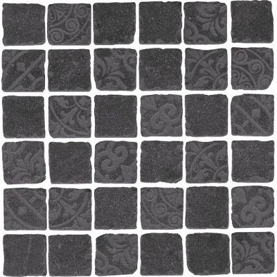 Керамогранит SBM002\DD6399 Про Фьюче мозаичный черный декор обрезной  30х30