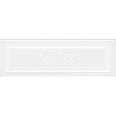 Плитка 14042R/3F Монфорте декор белый панель обрезной  40x120