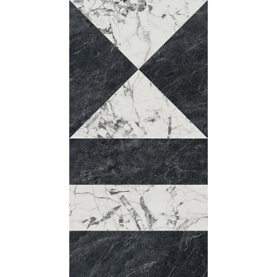 Керамогранит SG565402R Бьянко Неро черно-белый лаппатированный 60х119.5
