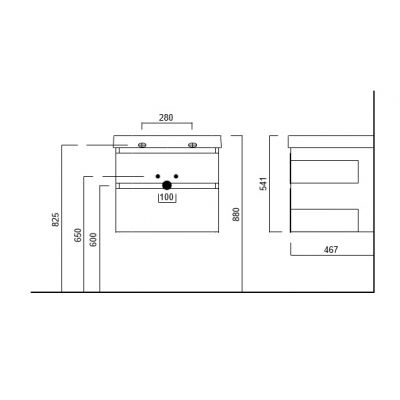 Тумба Kerama Marazzi Cubo CU.70/WHT, белая, подвесная 2 ящика, без раковины