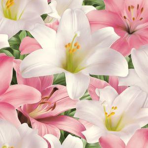 Обои Пермь Лилии 1035-011 бумажные дуплекс 0,53х10,05м розовый