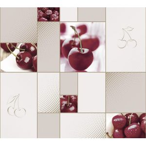 Обои Саратов Вишенка Ф606-06 бумажные моющиеся 0,53х10,05м серый