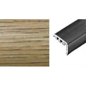Порог под дюбель Cezar ПВХ ламинированный 30мм х 0,9м венге