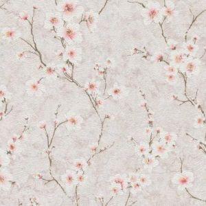 Обои МОФ Цветущий миндаль 231412-2 бумажные дуплекс 0,53х10,05м розовый