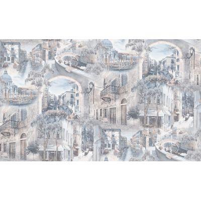 Обои Anturage Castello 168406-16 виниловые на флизелине 1,06х10,05м голубой