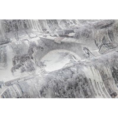 Обои Anturage Castello 168406-10 виниловые на флизелине 1,06х10,05м серый