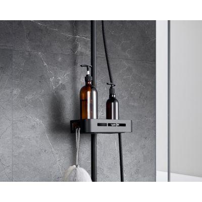 Смеситель для ванны Lemark LM7002BL Tropic, с верхней душевой лейкой, черный матовый