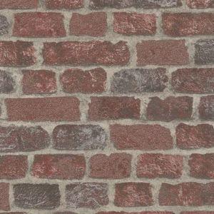 Обои Marburg Brique 97983 виниловые на флизелине 1,06х10,05м красный