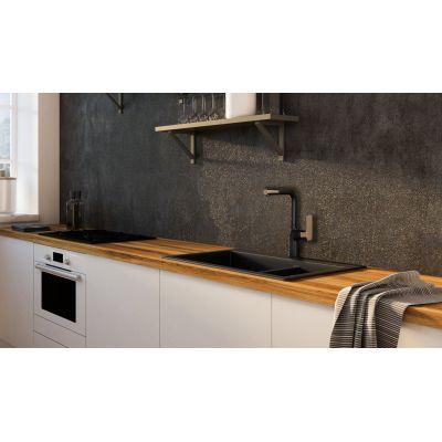 Смеситель для кухни Lemark URSUS LM7205BLR, с высоким поворотным изливом, черный/золото