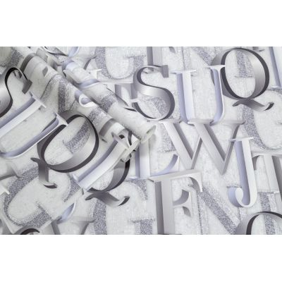 Обои Палитра Oxford PL71708-14 виниловые на флизелине 1,06х10,05м серый