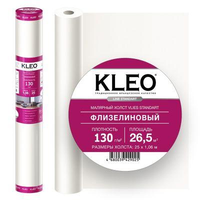 Флизелин малярный КLЕО VLIES 130 стандарт 1,06x25м белый