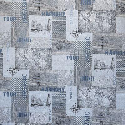 Обои Solo Voyage 168414-17 виниловые на флизелине 1,06х10,05м голубой