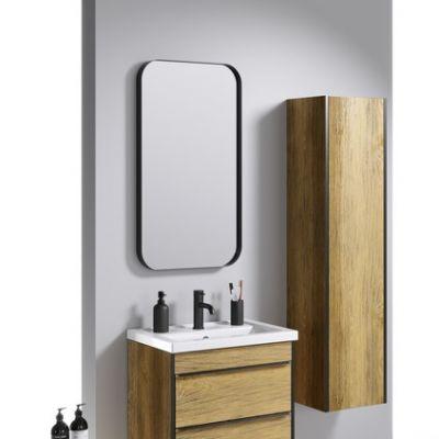 Зеркало Aqwella RM Л5/BLK 50х90см RM0205BLK в металлической раме