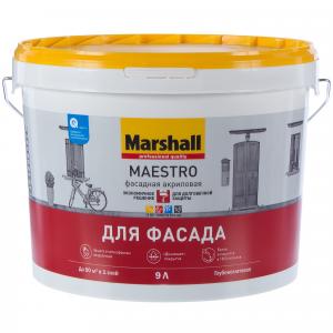 Краска Marshall Maestro Фасадная акриловая глубокоматовая BС 9л