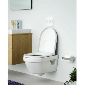 Унитаз подвесной Gustavsberg Hygienic Flush WWW 5G84HR01, безободковый, сид.микролифт