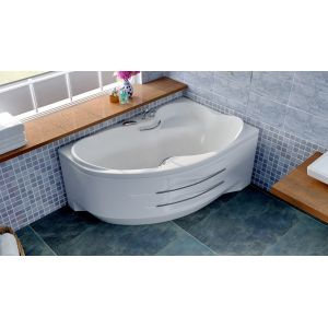 Акриловая ванна BellSan Индиго 1680х1100х715, левая, с экраном, без г/м, 2 ручки