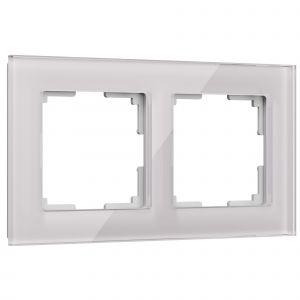 Рамка на 2 поста Werkel WL01-Frame-02 (дымчатый, стекло)