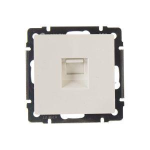 Розетка телефонная RJ-11 и Ethernet RJ-45 Werkel WL01-RJ11-45 (белая)