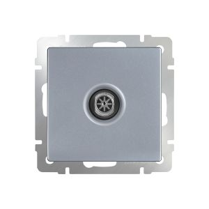 ТВ-розетка оконечная Werkel WL06-TV (серебрянный)